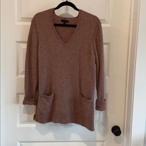 J. Crew Mauve V Neck Sweater - Medium